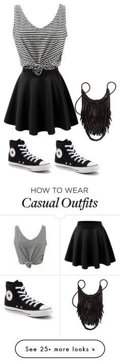 casual by reanna03 on Polyvore featuring Converse