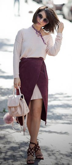 botkier backpack   asos wrap skirt   spring outfit   street style fashion blog   ellena galant   galant girl
