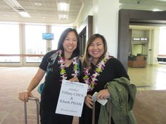 2/8/15- Welcome to Hawaii Tiffany and Khanh. They traveled all the way from LA to our beautiful island of Oahu. Their greeter, Kaori, wished them good bye since they were going to meet their friend from San Francisco, but not without capturing their first smiles for Oahu. #lethawaiihappen   #leigreeting   #hawaii   #honolulu