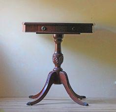 Duncan Phyfe mahogany side table.
