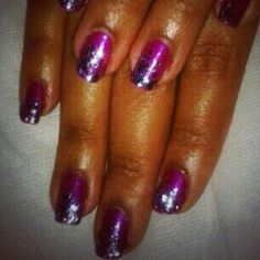 #Pink #Glitter #Nails