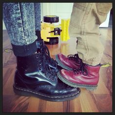 Dr Martens on Dr Martens I adore these boots for me and my step-son, they're comfy and reliable. I can spend the amount I do and know it's not just a purchase but an investment in our feet! Dm Boots, Combat Boots, Dr. Martens, Jewish Men, Glass Slipper, Women's Feet, Sock Shoes, Suede Shoes, Footwear