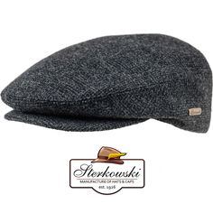 Men's Classic Wool Fleece Flat Cap Snap Bill Ivy - gray; Vintage, Fashion, Retro #Sterkowski #NewsboyCabbie