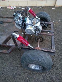Mini Jeep, Mini Bike, Cycle Kart, Go Kart Designs, Kart Cross, Go Kart Frame, Homemade Go Kart, Go Kart Buggy, Homemade Tractor