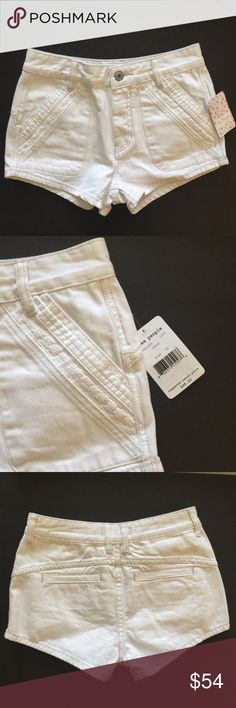 """Free People High Waist Sweet Surrender MSRP $88 Brand new condition from a smoke free and pet free home. 1 business day shipping. Please message me if you have questions about this item. I am happy to assist you.  26"""" waist, 10"""" rise, leg opening is 10.3"""" Free People Shorts"""