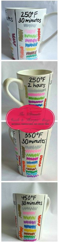 The Ultimate Guide to Sharpie Mugs | Tips Tricks and Hints to Get the Most Out of Your Sharpie Mugs | The Best Temperatures Materials and Cooking Times | Destination Decoration