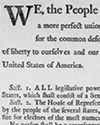 Detail from The Constitution, Printed, with Marginal Notes by George Washington, September 1787 Library of Congress Lesson Plan Teaching American History, Bill Of Rights, Primary Sources, Newspaper Article, Background Information, Library Lessons, History Class, Calculus, Library Of Congress