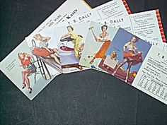 Lot Of 5 Elvgren Pin Up Blotters (Lot # 313)