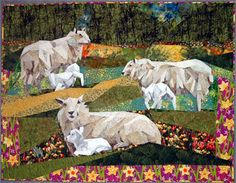 Animal Quilts at the International Quilt Shows - Travel Photos by Galen R Frysinger, Sheboygan, Wisconsin Farm Quilt, American Quilt, Country Quilts, Animal Quilts, Thread Painting, Applique Quilts, Fabric Art, Pet Portraits, Love Art
