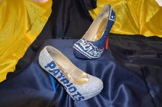 New England Patriot Glitter High Heels by RayKayMay on Etsy, $160.00
