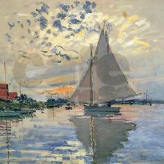 French Sailboat by Monet