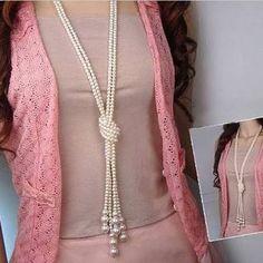 Resultado de imagen para imagenes de collares largos de perlas