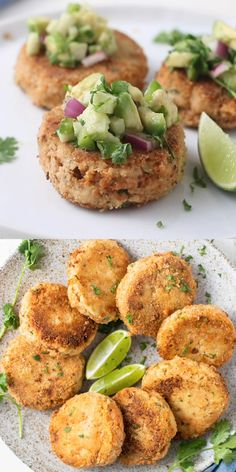 Keto Salmon Patties Healthy salmon patties made with low carb almond flour, zucchini, jalapenos and lime juice. A great keto seafood recipe! Best Seafood Recipes, Healthiest Seafood, Diet Recipes, Seafood Appetizers, Seafood Dishes, Healthy Recipe Videos, Healthy Recipes, Easy Recipes, Salmon Patties Recipe