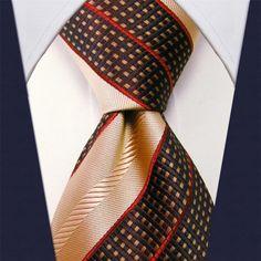 Brown / Peach Necktie