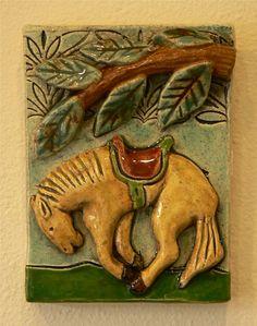 ceramic Horse Tile by tilebyfire on Etsy