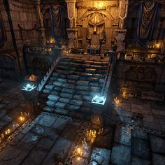 """A modular dungeon I did for the indie video game """"Ralin"""" from Ogardonix…"""