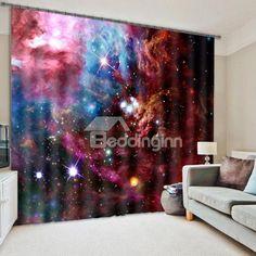 Splendid #Galaxy Print Room Darkening #3D #Curtain
