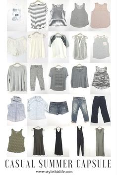 Casual Summer Capsule Wardrobe - this is perfect for a stay at home mom! www.stylethislife.com