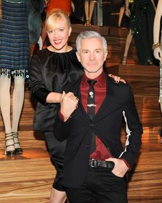 Catherine Martin and Miuccia Prada Dress Gatsby: Catherine Martin and husband Baz Luhrmann. Source: Billy Farrell/BFAnyc.com.