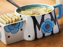 Make Mom the perfect gift this Mother's Day! A Soup & Crackers Mug with pretty blooms and her name is a fantastic idea!