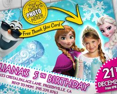 Frozen Birthday Invitation Invitations with photo by Printadorable