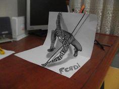 Genç Türk Yetenekten Üç Boyutlu Çizim Çalışmaları
