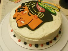 chicago blackhawks hockey cake