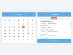 Simple Calendar Widget (Sketch)