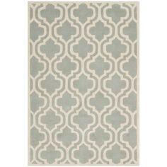 Safavieh Handmade Moroccan Chatham Grey Wool Rug (4' x 6')   Overstock™ Shopping - Great Deals on Safavieh 3x5 - 4x6 Rugs