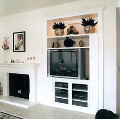 Pacific Coast Custom Design. Entertainment Centers & Built-in Niches. White media niche