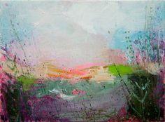 "Saatchi Art Artist Sandy Dooley; Painting, ""Pink Field, January"" #art"