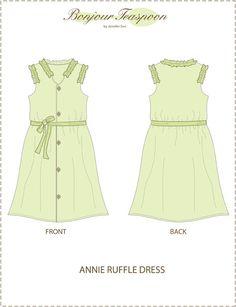 """Annie Ruffle Dress 18"""" Doll Clothes"""