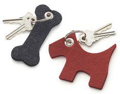 Dog and Bone Felt Keychains from Crate & Barrel - Dog Milk