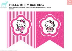 Free Printable Hello Kitty Thank You Cards from PrintableTreats.com Hello Kitty Party ...