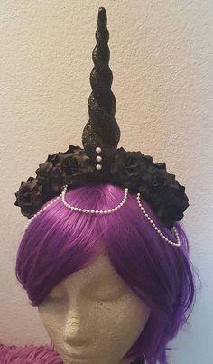 Unicorn horn Unicorn queen Halloween Black by msformaldehyde