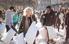 pillow fight day - Google Search