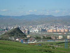 Ulaanbaatar, Mongolia / View Of Ulaanbaatar and Zaisan Hill