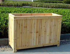 wooden planters | Pedestal L shape Planter Pedestal Tall Planter