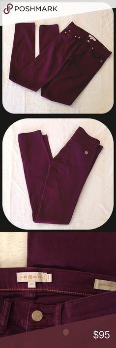 Tory Burch Super Skinny Jeans EUC Skinny Jeans in purple.  Size 25 Tory Burch Jeans Skinny