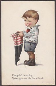 twelvetrees postcards | Details about X0936 Twelvetrees postcard, Boy with stocking for tent ...
