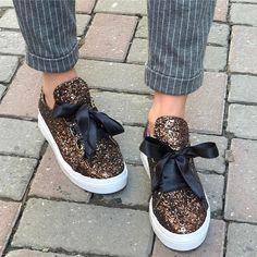 Bronz Sim Kaplama Spor Ayakkabı – Shoe Modam Bayan Ayakkabı