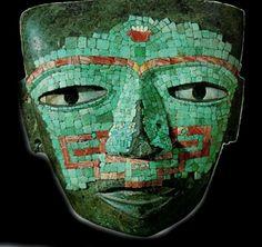 Tolteca culture jade mask Mexico