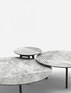 GROOVE | Alain Gilles - side tables and sofa tables - lines - stripes - marble…