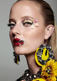 Emoji Girl Emoticon Beauty Editorial with Model Emily Steel, Stickers Covering face, Emoji Girl, emoticons, woman wearing curlers, hair rollers   NEW YORK FASHION BEAUTY PHOTOGRAPHER- EDITORIAL COMMERCIAL ADVERTISING PHOTOGRAPHY