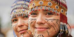 Alaska Native headdresses.  Very cool.