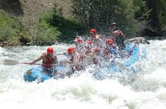 White water rafting on the Arkansas River, Colorado (to do with kids)