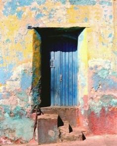 Oaxaca, México.  I like this as it reminds me of the doors in the rancho where my husband was born.