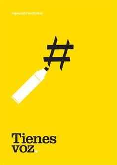 Cartel para el movimiento 15-M, 2011 (Voces con futura)