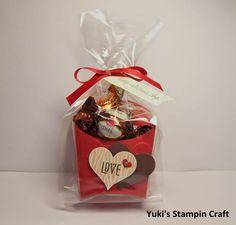 フライボックス ダイでバレンタインのトリートボックス! Valentine's Day treat box using Fry Box bigz die Stampin' UP.