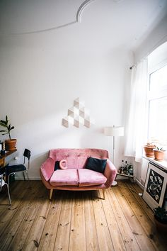 Pink love seat